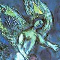 Ange bleu et vert-Chagall