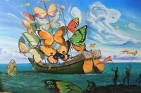 Bateau de papillons-Dali