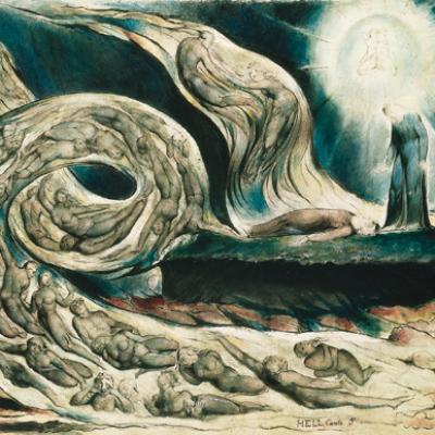 Cercle luxurieux de W.Blake-Peinture