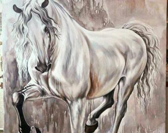 Cheval blanc-Peinture