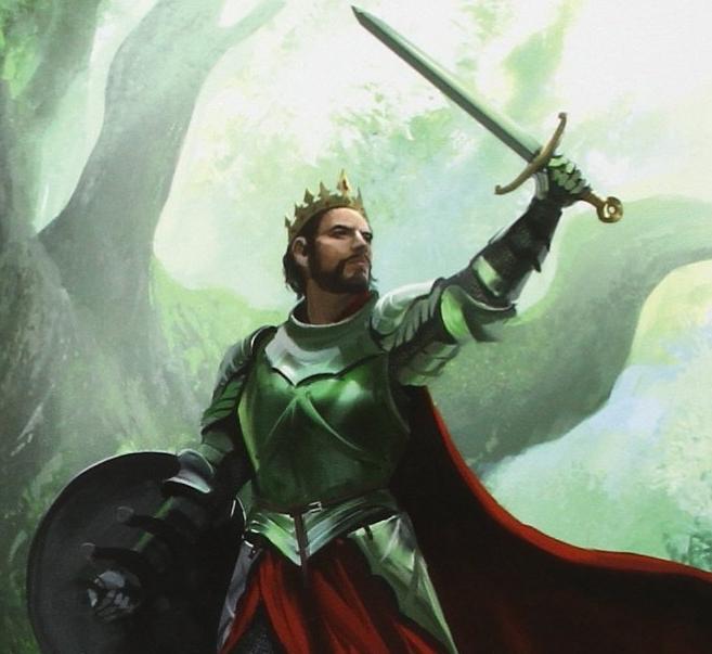 Chevalier épée à la main