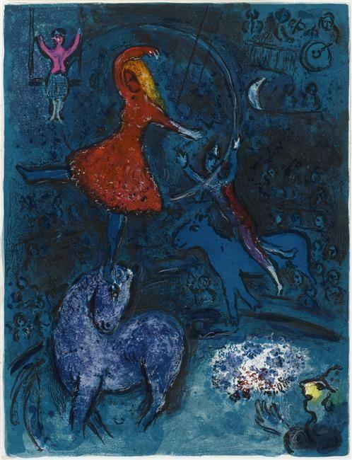 Cirque femme tournoyant-Chagall
