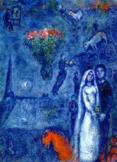 Couple cheval rouge-Chagall