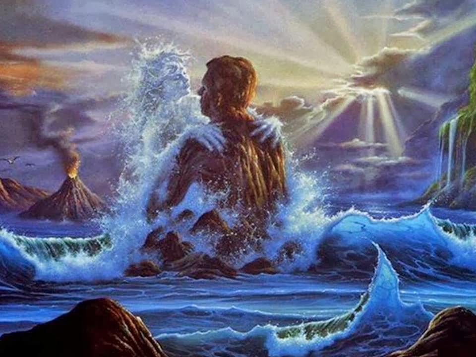 Couple dans vagues