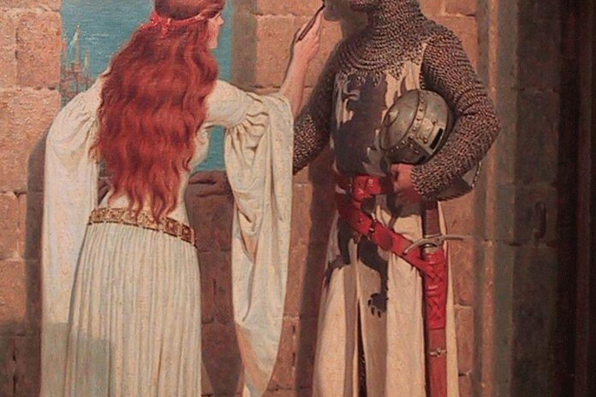 Couple femme et chevalier
