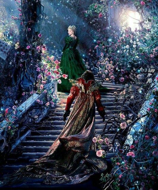 Couple princier sur escalier