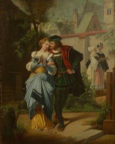 Couple dans village
