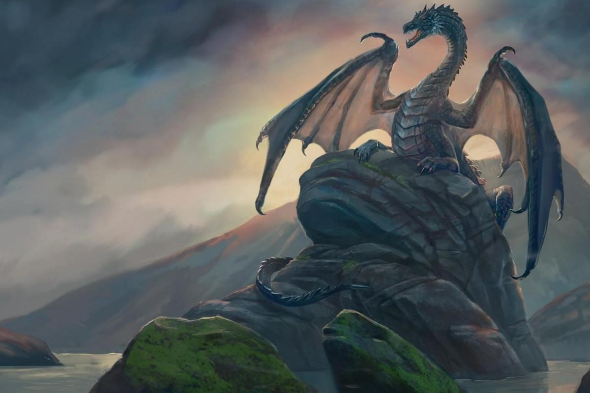Dragon sur montagne