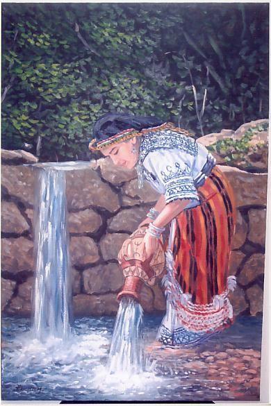 Enfant dans fontaine