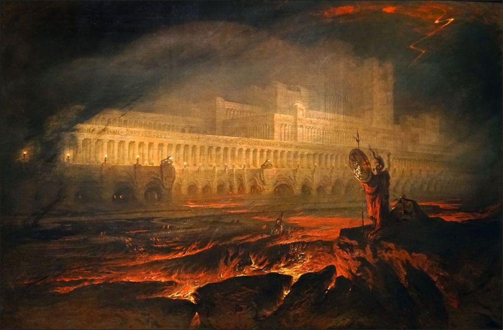 Enfer avec palais et feu