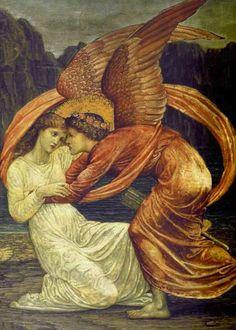 Eros et Psyché enlacés
