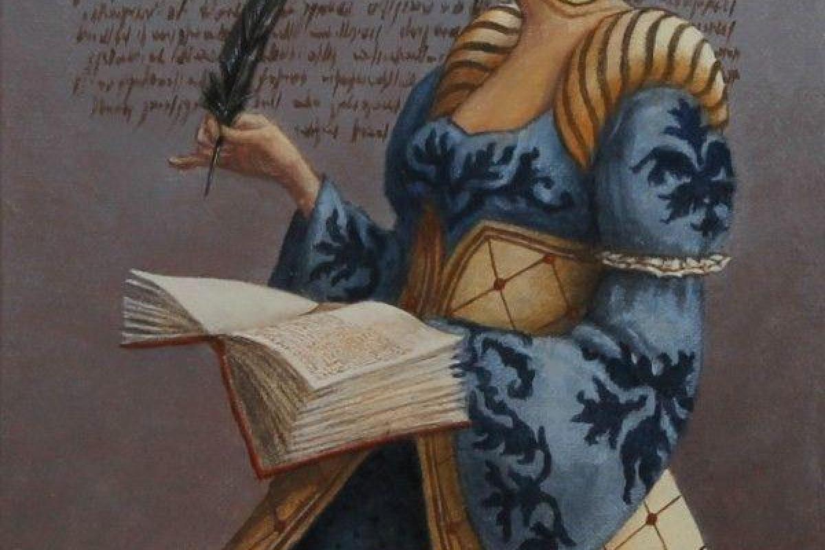 Femme ancienne écrivaine