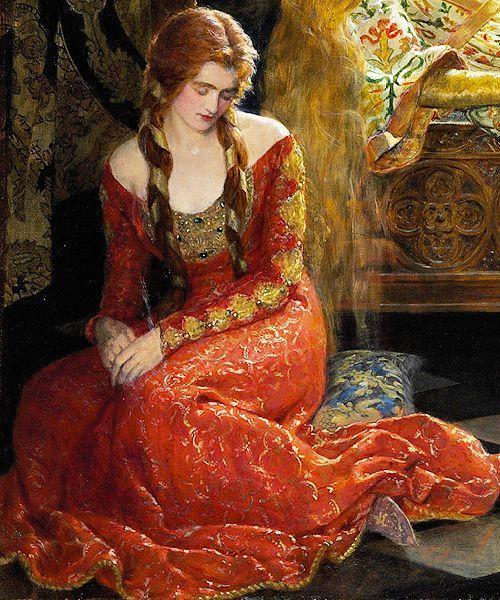 Femme assise attristée