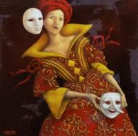 Femme aux masques-Catherine Chauloux