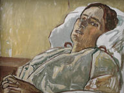 Femme étendue-Ferdinand Hodler