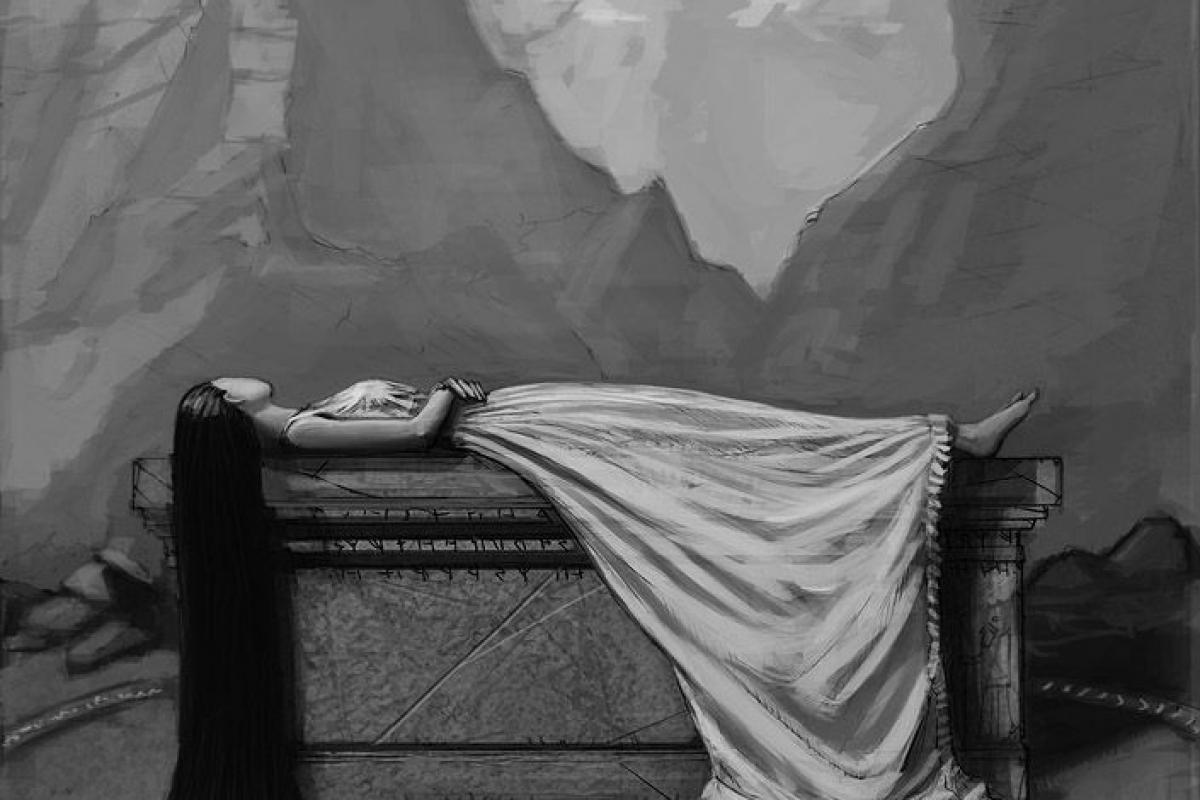 Femme endormie N/B