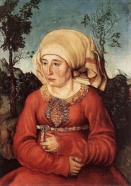 Femme laide et triste-Peinture
