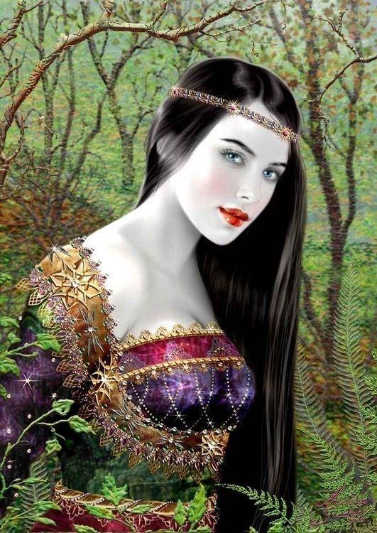 Femme médiévale ravissante
