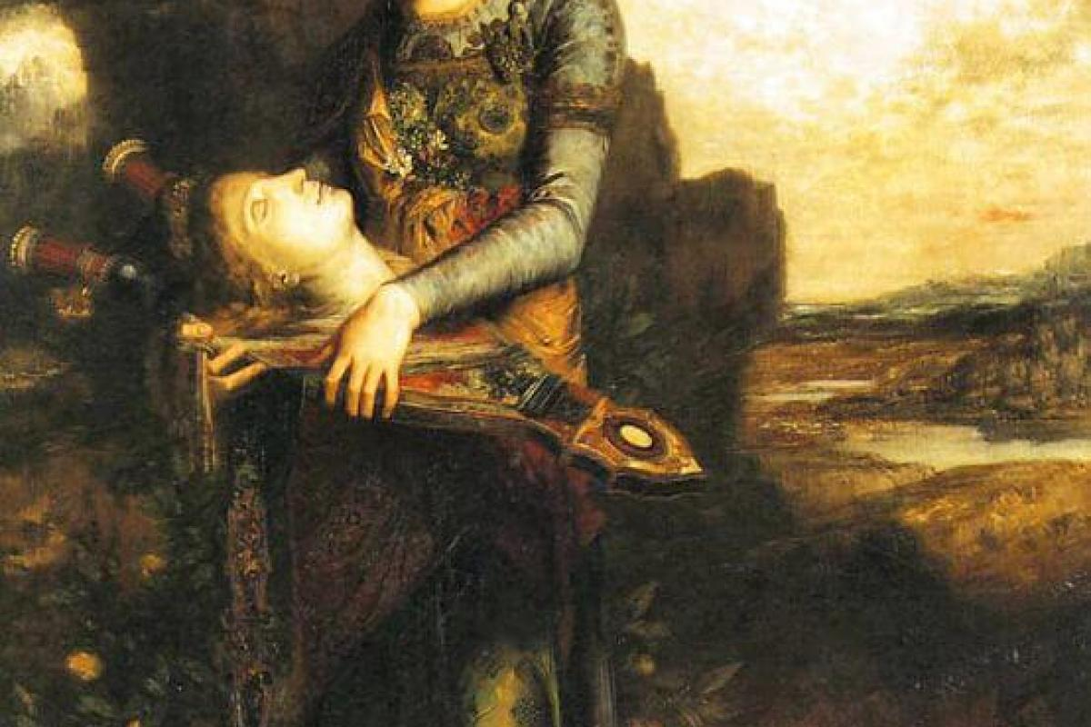 Femme portant tête d'Orphée-Moreau