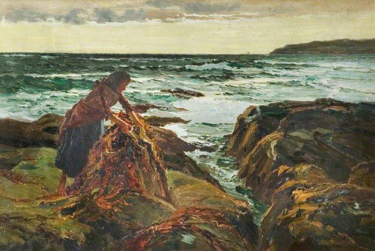 Femme sur plage