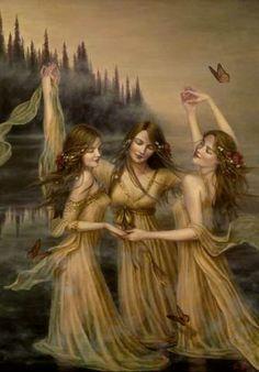 Femmes trois soeurs