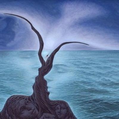 Formes et visages dans mer et ciel