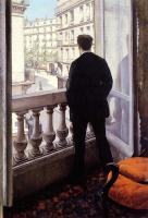 Homme à fenêtre-Caillebotte