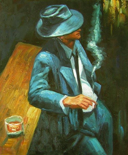 Homme au bar