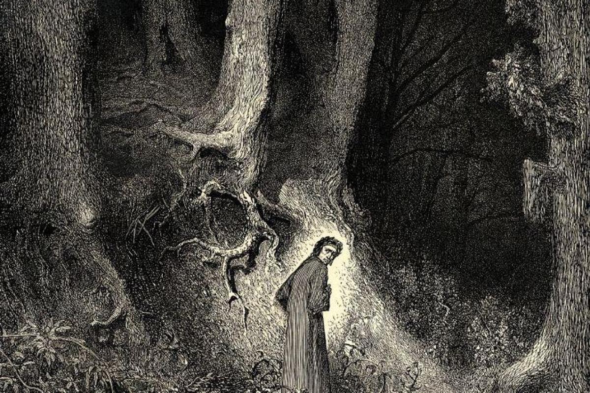 Homme errant enfer-Dante