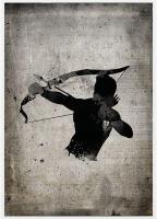 Homme noir tirant à l'arc
