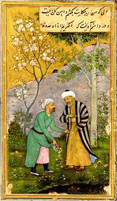 Hommes dans jardin-Gullistan