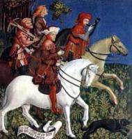 Hommes nobles à cheval