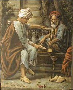 Hommes vieux et jeune-Peinture