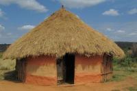 Hutte ronde en Afrique