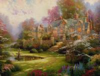 Maison dans jardin féérique