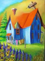 Maison naÏve-Peinture