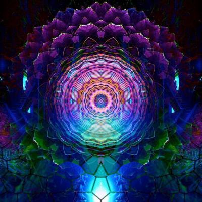 Mandala sur lanterne