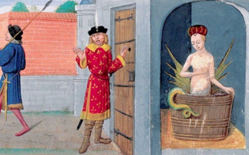 Mélusine épiée par son mari