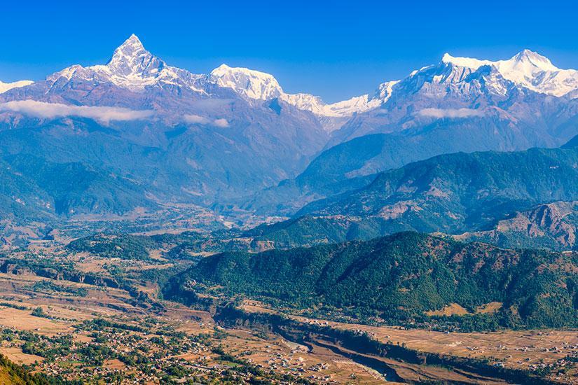 Montagne ensoleillée Tibet