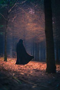 Ombre humaine dans forêt