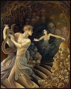 Orphée regardant Eurydice à la sortie de l'enfer