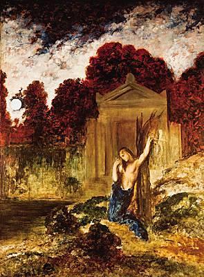 Orphée sur tombe d'Eurydice-Gustave Moreau