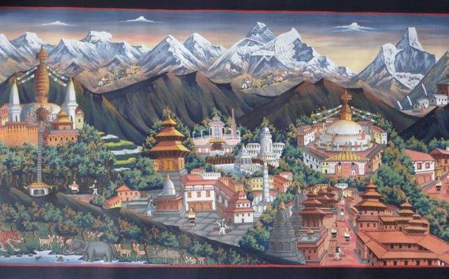 Paysage tibétain magnifique