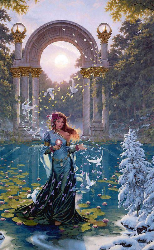 Perséphone dans jardin