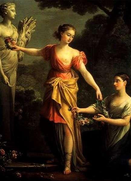 Perséphone orne Demeter-Joseph Marie Vien