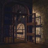 Porte de prison ouverte