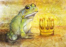 Prince grenouille et couronne d'or