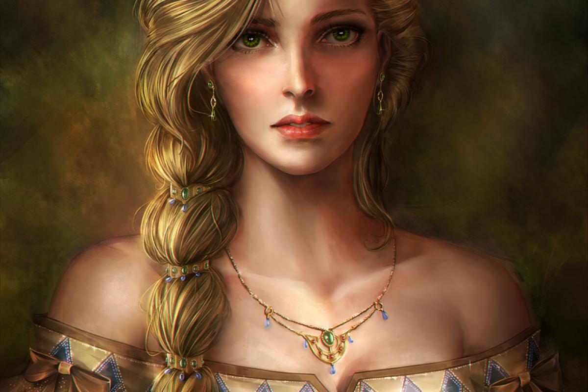 Princesse à la natte-Peinture