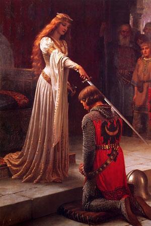 Princesse adoubant chevalier