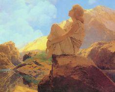 Psyché assise sur rocher